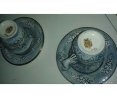 Servizio da caffè porcellana capo di monte - Roma