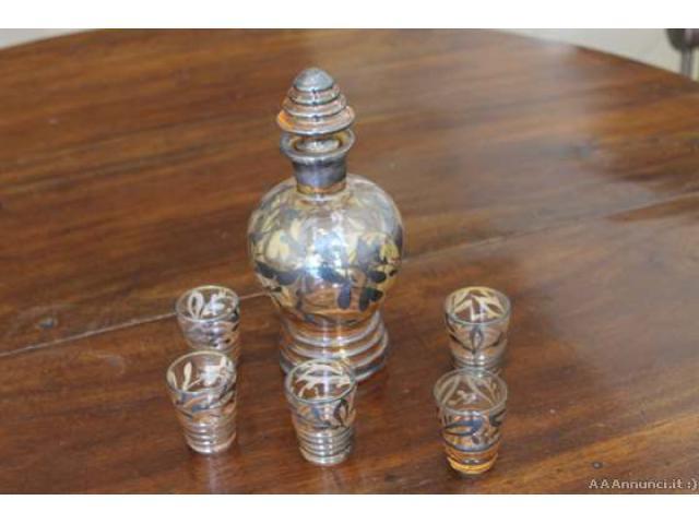 Antico servizio liquore vetro Murano epoca Liberty primo 90 - Viterbo