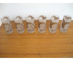 Vecchio set bicchieri anni 40-50 federica matta - Brescia