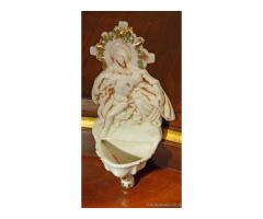Ceramica, acquasantiera primi 1900 - Vicenza