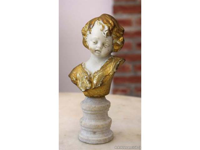 Scultura ceramica, testa di bimbo - Vicenza