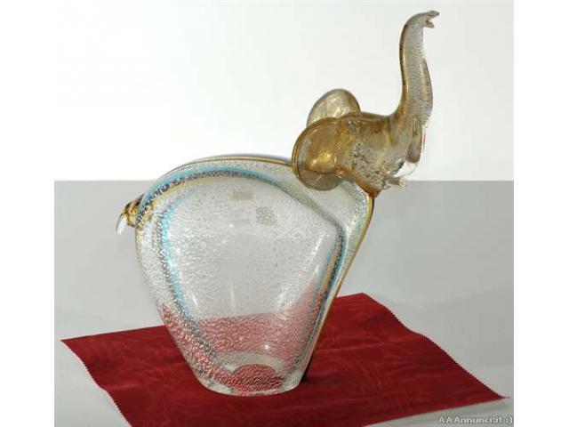 Elefantino in vetro di murano - Agrigento