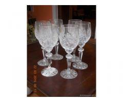 Bicchieri cristallo di Boemia e zuppiera dell'800 - Brescia