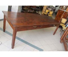 Enorme antico tavolo Piemontese rustico 260 cm 12 persone - Viterbo