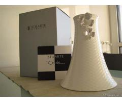 Vaso ceramica STILARTE argento - nuovo - Milano