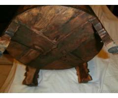 Macina indiana in legno massello intarziato - Milano