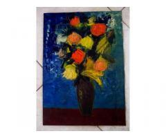 Quadro con vaso di fiori - Puglia