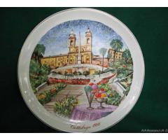 """Piatto da parete in Capodimonte """"Cattabriga1986"""" - Brescia"""