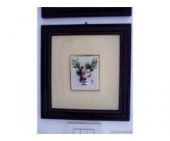 Quadri in ceramica con fiori in rilievo - Puglia