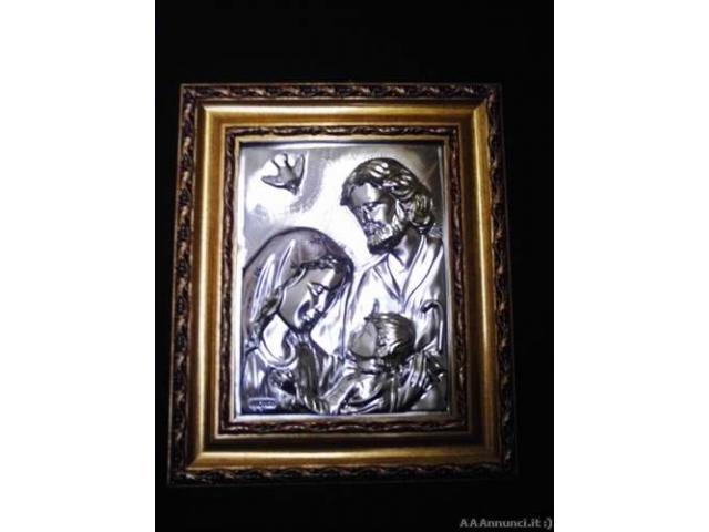 Quadro Sacra Famiglia in argento - Puglia