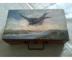Antica scatola in legno dipinto - Milano
